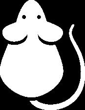 white rodent icon